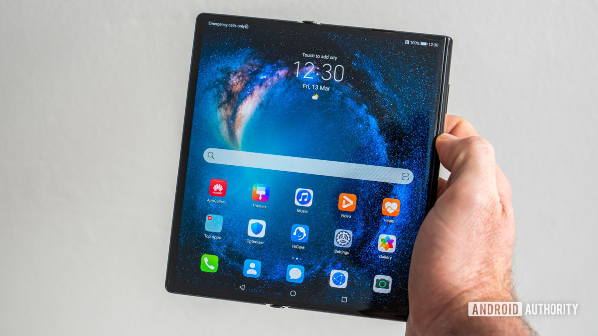 Huawei Mate Xs test start screen open