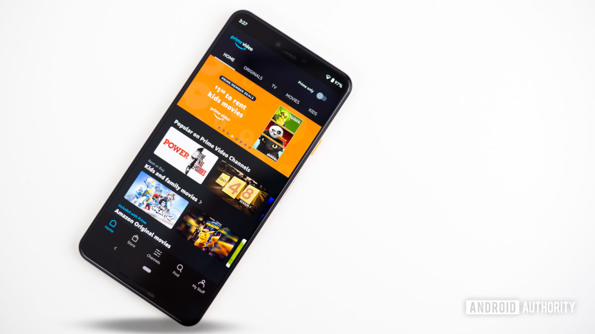 Amazon Prime Video shown in the photo on the smartphone