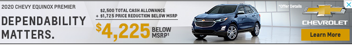 Banner ad for Chevy