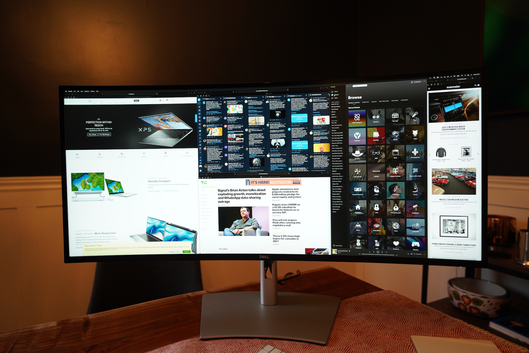 Dell's 40-inch curved monitor is perfect for a home office command center – TechCrunch