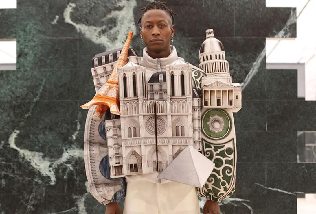 Louis Vuitton cityscape jackets dress you up in 3D urban architecture