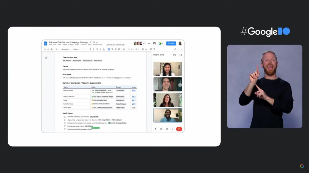 Google IO 2021 Javier Soltero speaks meeting 02