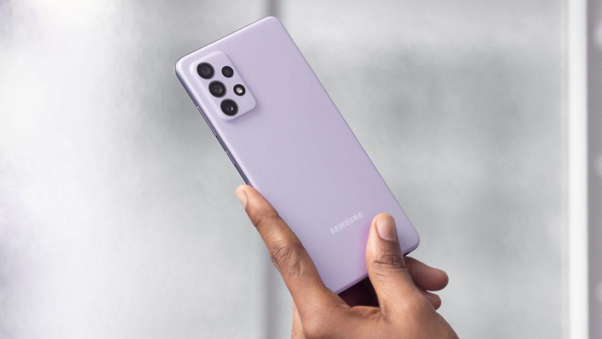 Samsung Galaxy A72 purple