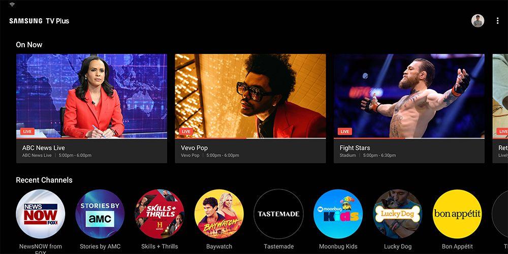 Samsung TV plus screenshot