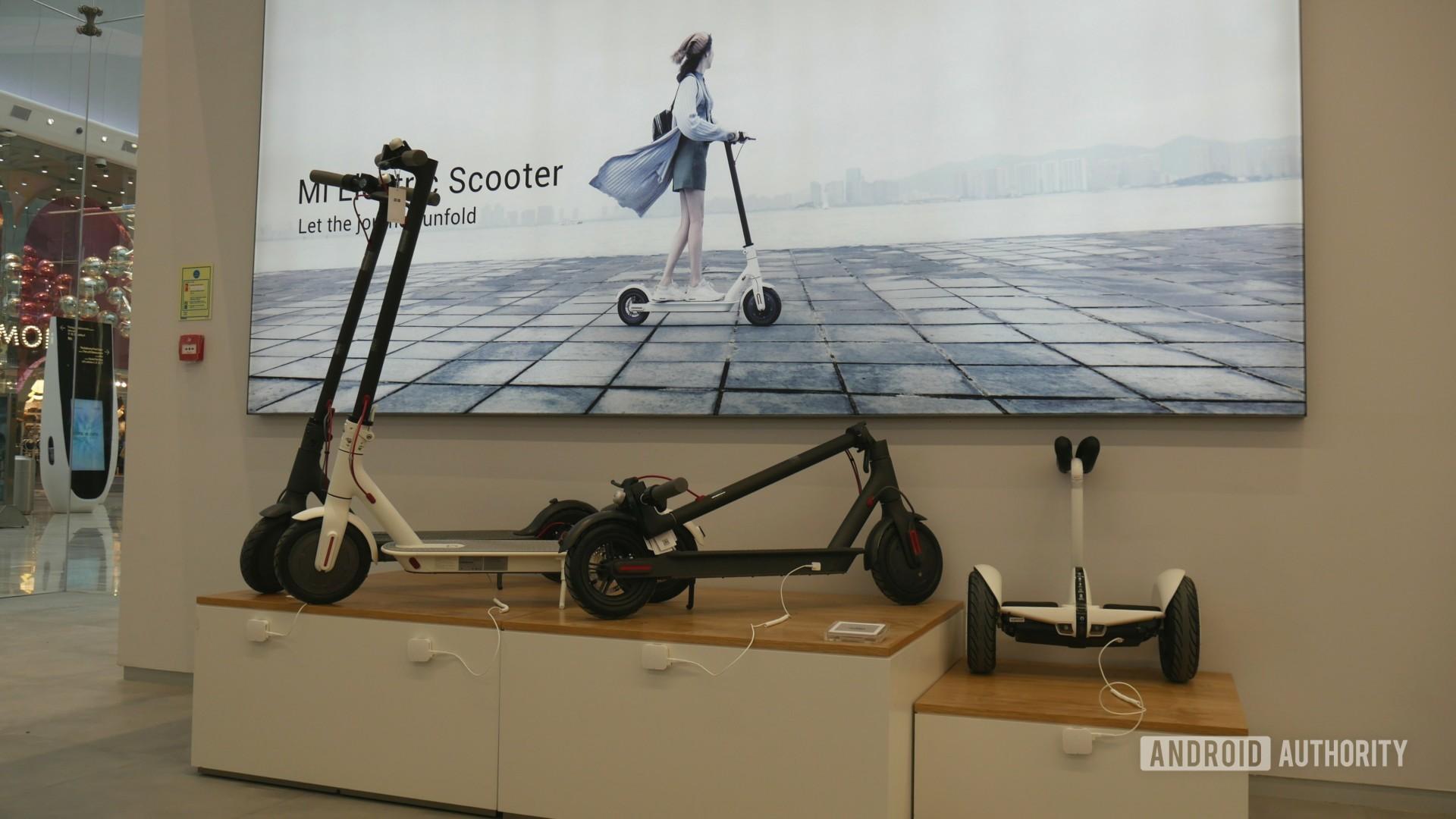 Xiaomi Mi Store Scooter.