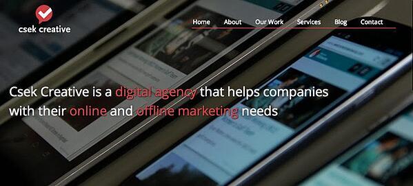 Csek's newly written tagline on its homepage.
