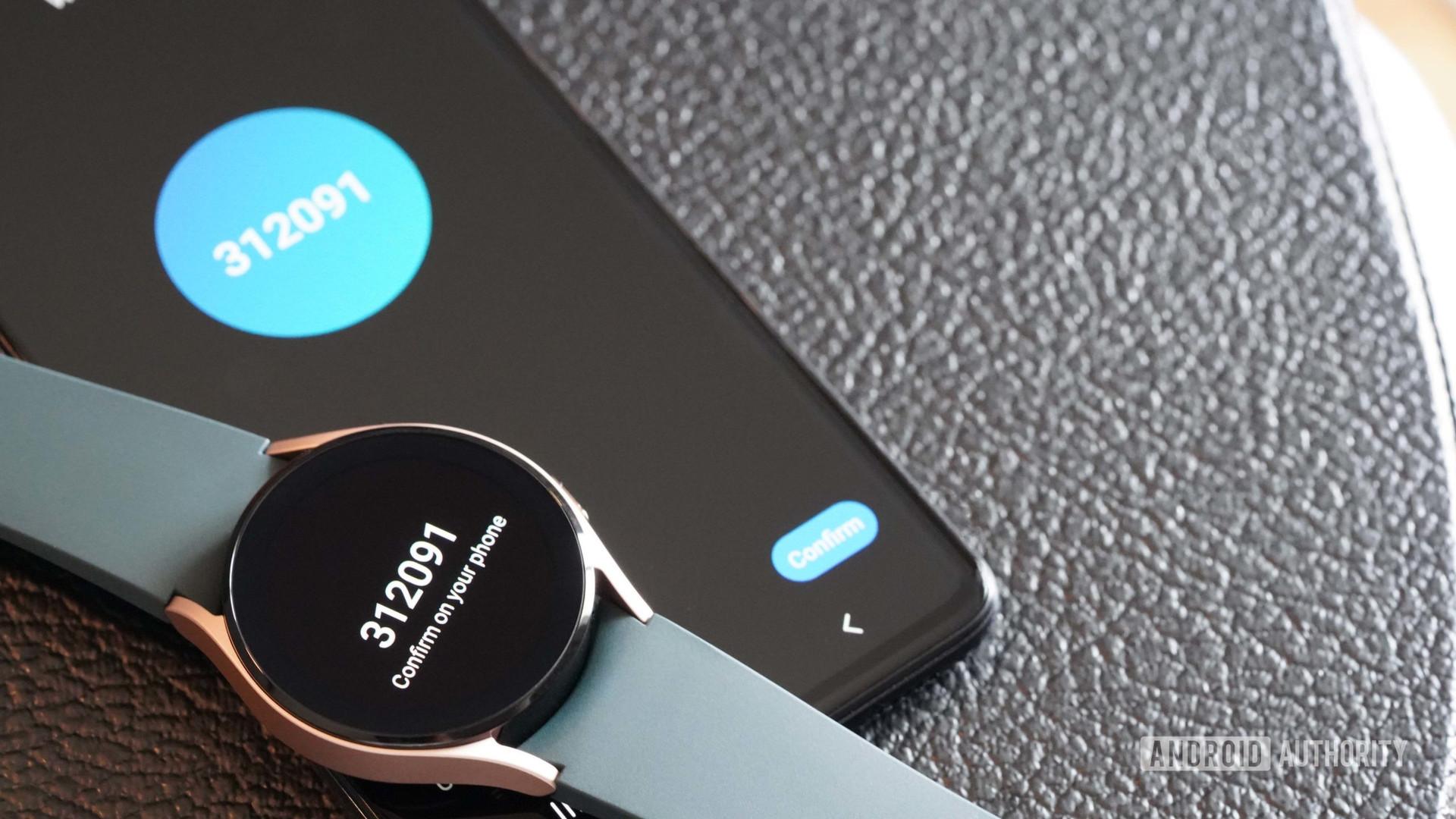 A Galaxy Watch 4 pairs to a Galaxy A51 phone.